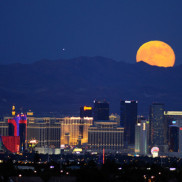 Blue moon over las vegas