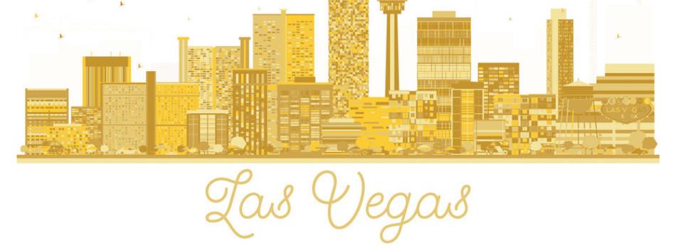 gold vegas skyline